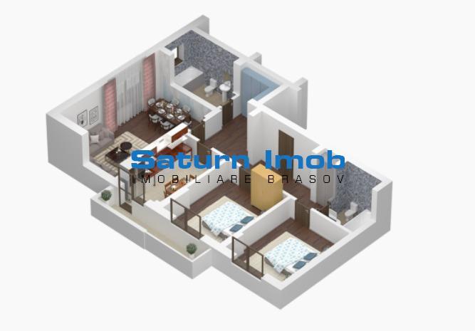 Apartament 3 camere nou Unirii