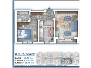 Apartament 2 camere - Popesti Leordeni