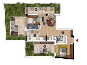 Apartament 2 camere cu 3 terase Stefan cel Mare