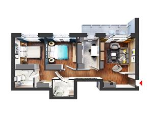 Apartament 3 camere nou Theodor Pallady